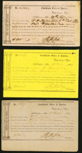 Confederate Notes:Group Lots, Tallahassee, FL Interim Depository Receipts Various Amounts 1864 Tremmel FL-39; 42; 44 Fine.. ... (Total: 3 items)