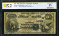 National Bank Notes:Michigan, Muskegon, MI - $10 1882 Date Back Fr. 540 The Hackley National Bank Ch. # (M)4398 PCGS Banknote Choice Fine 15.. ...