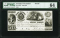 Obsoletes By State:Georgia, Fort Gaines, GA- John Dill 50¢ Jan. 1, 1841 Proof PMG Choice Uncirculated 64.. ...