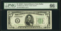Small Size:Federal Reserve Notes, Fr. 1960-K $5 1934D Federal Reserve Note. PMG Gem Uncirculated 66 EPQ.. ...