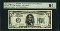 Small Size:Federal Reserve Notes, Low Serial Number 2333 Fr. 1950-F $5 1928 Federal Reserve Note. PMG Choice Uncirculated 64 EPQ.. ...