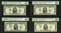 $5 1950 Wide II Federal Reserve Notes PMG Graded. Fr. 1961-A Choice Uncirculated 63, Good Embossing, Minor Cutt