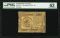 Continental Currency November 29, 1775 $5 PMG Choice Uncirculated 63