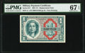 Military Payment Certificates:Series 611, Series 611 $1 Replacement PMG Superb Gem Unc 67 EPQ.. ...