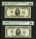 Fr. 1961-C $5 1950 Wide I Federal Reserve Note. PMG Gem Uncirculated 66 EPQ; Fr. 1961-C* $5 1950 Wide (I) Feder