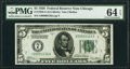 Small Size:Federal Reserve Notes, Low Serial Number 126 Fr. 1950-G $5 1928 Federal Reserve Note. PMG Choice Uncirculated 64 EPQ.. ...