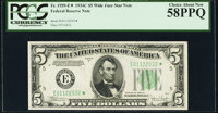 Fr. 1959-E* $5 1934C Federal Reserve Note. PCGS Choice About New 58PPQ