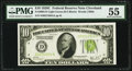 Fr. 2003-D $10 1928C Federal Reserve Note. PMG About Uncirculated 55