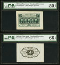 Fr. 1313SP 50¢ First Issue Wide Margin Face PMG About Uncirculated 55 EPQ Fr. 1313SP 50¢ First Issue Wide Marg...