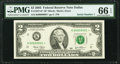 Small Size:Federal Reserve Notes, Serial Number 1 Fr. 1937-K* $2 2003 Federal Reserve Note. PMG Gem Uncirculated 66 EPQ.. ...