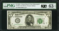 Small Size:Federal Reserve Notes, Fr. 1951-I $5 1928A Federal Reserve Note. PMG Choice Uncirculated 63 EPQ.. ...