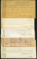 Confederate Notes:Group Lots, Fayetteville, NC- Interim Depository Receipts 1863-64 Tremmel NC-38; 42; 51; 52A; 53 Fine or Better.. ... (Total: 5 items)