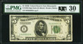 Small Size:Federal Reserve Notes, Fr. 1952-I $5 1928B Federal Reserve Note. PMG Very Fine 30.. ...