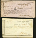Confederate Notes:Group Lots, Florida Interim Depository Receipts Various Denominations 1864.. Madison Tremmel FL-11 Fine-VF, CC;. Tallahassee Tremm... (Total: 2 items)