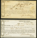 Confederate Notes:Group Lots, San Antonio, TX Interim Depository Receipts Various Amounts 1864 Tremmel TX-82; 86 Very Fine.. ... (Total: 2 items)
