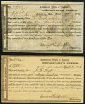 Confederate Notes:Group Lots, Columbus, MS Interim Depository Receipts Various Amounts 1864 Tremmel MS-35; 38 Extremely Fine or Better.. ... (Total: 2 items)