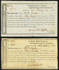 Confederate Notes:Group Lots, Columbus, MS Interim Depository Receipts Various Amounts 1864 Tremmel MS-32; MS-39 Very Fine.. ... (Total: 2 items)