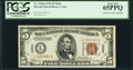 Fr. 2301 $5 1934 Hawaii Federal Reserve Note. PCGS Gem New 65PPQ