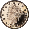 Proof Liberty Nickels, 1885 5C PR67+ Cameo PCGS. CAC....