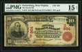 National Bank Notes:West Virginia, Parkersburg, WV - $10 1902 Red Seal Fr. 613 The Second National Bank Ch. # (S)864 PMG Choice Fine 15 Net.. ...