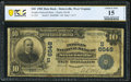 National Bank Notes:West Virginia, Sistersville, WV - $10 1902 Date Back Fr. 616 The Peoples National Bank Ch. # (S)6548 PCGS Banknote Choice Fine 15 Det...