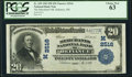 National Bank Notes:Ohio, Defiance, OH - $20 1902 Plain Back Fr. 659 The Merchants National Bank Ch. # (M)2516 PCGS Choice New 63.. ...