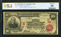 National Bank Notes:Ohio, Hamilton, OH - $10 1902 Red Seal Fr. 613 The First National Bank Ch. # (M)56 PCGS Banknote Very Fine 20.. ...