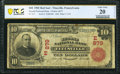 National Bank Notes:Pennsylvania, Titusville, PA - $10 1902 Red Seal Fr. 613 The Second National Bank Ch. # (E)879 PCGS Banknote Very Fine 20 Details....