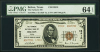 Belton, TX - $5 1929 Ty. 2 The Farmers National Bank Ch. # 13810 PMG Choice Uncirculated 64 EPQ