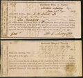 Confederate Notes:Group Lots, Florida Interim Depository Receipts Various Amounts 1864 Fine or Better.. Lake City Tremmel FL-9; Madison Tremmel FL-11.... (Total: 2 notes)