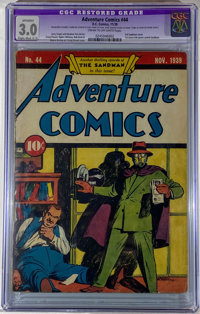 Adventure Comics #44 (DC, 1939) CGC Apparent SA GD/VG 3.0 Cream to off-white pages