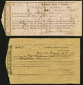 Confederate Notes:Group Lots, Quincy, FL- Interim Depository Receipts Various Values 1864 Tremmel FL-19; 20 Fine or Better.. ... (Total: 2 items)