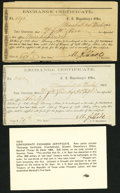Confederate Notes:Group Lots, Marshall, TX Interim Depository Receipts Various Amounts 1864 Very Fine or Better.. Tremmel TX-69; 70.. ... (Total: 2 notes)