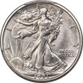 Walking Liberty Half Dollars, 1921-D 50C -- Cleaning -- PCGS Genuine. AU Details....