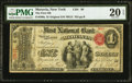 National Bank Notes:New York, Moravia, NY - $1 Original Fr. 380a The First National Bank Ch. # 99 PMG Very Fine 20 EPQ.. ...