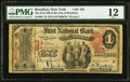 Brooklyn, NY - $1 1875 Fr. 385 The First National Bank of the City of Brooklyn Ch. # 923 PMG Fine 12.</