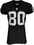 Football Collectibles:Uniforms, 2002 Jerry Rice Game Worn & Unwashed Oakland Raiders Jersey Photomatched to Two Games Including 1/12/2002 Wild Card Game vs th...