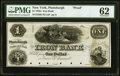 Obsoletes By State:New York, Plattsburgh, NY- Iron Bank $1 18__ as G2 Proof PMG Uncirculated 62.. ...