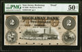 Obsoletes By State:New Jersey, Rockaway, NJ- Rockaway Bank $2 May 1, 1858 G4b as Wait 2134 Proof PMG About Uncirculated 50 Net.. ...