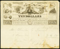 Miscellaneous:Advertising Notes, 1863 Baltimore, MD Letterhead/Advertising Note for Augustin Croyeau, Wig and Hair Piece Maker Vlack 1420 Very Fine.. ...