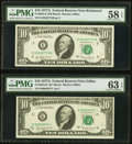 Small Size:Federal Reserve Notes, Fr. 2024-E $10 1977A; K* Federal Reserve Notes. PMG Graded Choice About Unc 58 EPQ; Choice Uncirculated 63 EPQ;. Fr. 2025-... (Total: 5 notes)