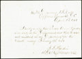 Invalid Corps Letter April 3, 1864 Not Graded