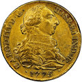 Colombia, Colombia: Charles III gold 8 Escudos 1775/4 P-JS AU53 NGC,...