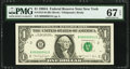 Small Size:Federal Reserve Notes, Low Serial Number 41 Fr. 1915-B $1 1988A Federal Reserve Note. PMG Superb Gem Unc 67 EPQ.. ...