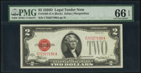 Fr. 1505 $2 1928D Legal Tender Note. PMG Gem Uncirculated 66 EPQ