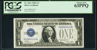 Low Serial Number 140 Fr. 1601 $1 1928A Silver Certificate. PCGS Choice New 63PPQ