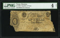 Obsoletes By State:Texas, Houston, TX- Treasurer of the Republic of Texas $3 circa 1830s Cr. H26 PMG Good 4 Net.. ...