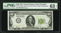 Fr. 2152-D $100 1934 Light Green Seal Federal Reserve Note. PMG Choice Uncirculated 63 EPQ