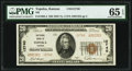 Topeka, KS - $20 1929 Ty. 2 National Bank of Topeka Ch. # 12740 PMG Gem Uncirculated 65 EPQ