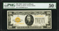 Small Size:Gold Certificates, Fr. 2402 $20 1928 Gold Certificate. PMG About Uncirculated 50 EPQ.. ...